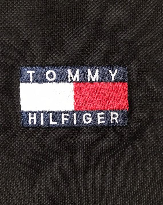 Vintage 90s Deadstock Tommy Hilfiger big logo colour block polo shirt