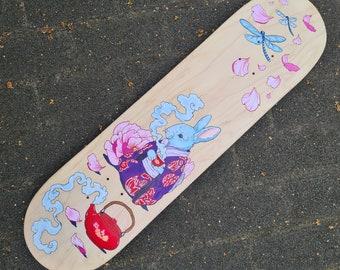 Carrot Tea - Hand painted skateboard deck