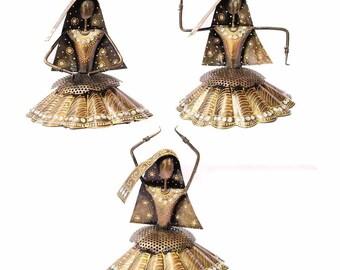 Silver Hoop Earrings,Lightweight  Earrings,Tribal jewelry Indian village ornaments-Boho gypsy Earrings by Taneesi AEH0631