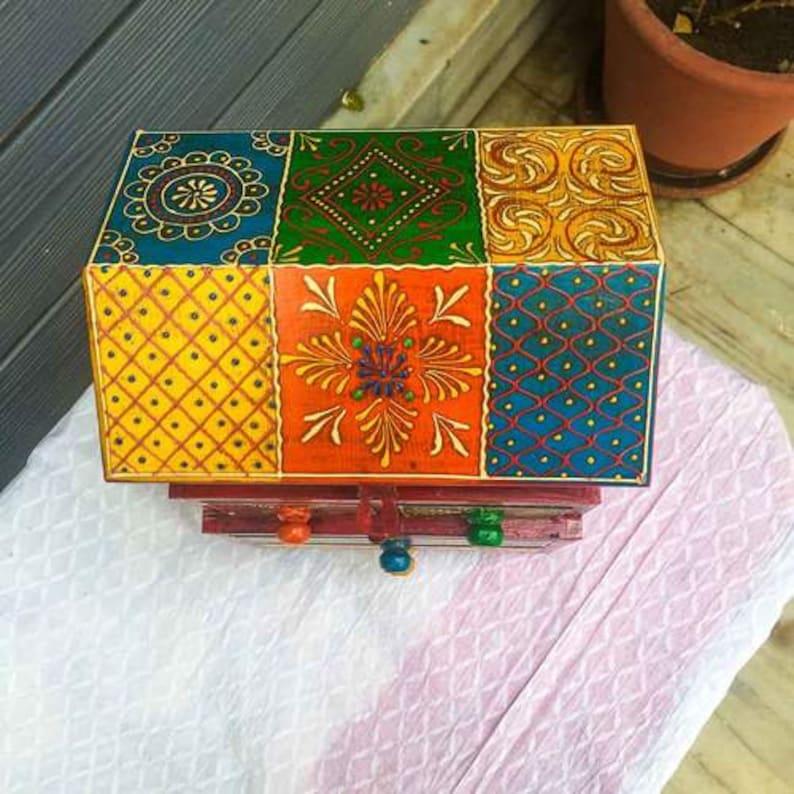 Hut Shape 5 Drawer Jewellery Box Handmade Arena Gift Item Handmade Wooden Storage Box