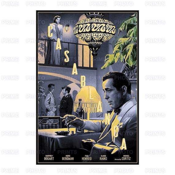 Casablanca Film Quote Sepia Photo Poster Romantic Drama Film Bogart Bergman
