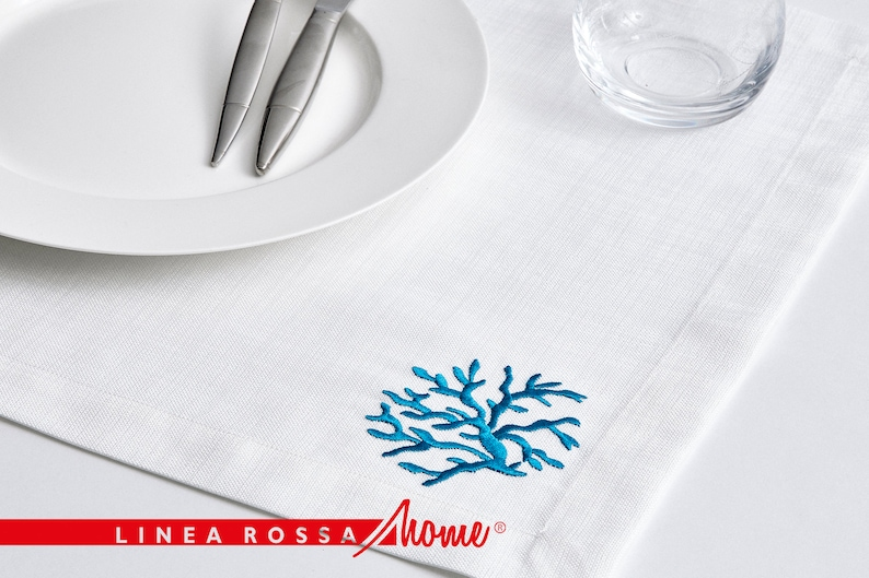 Placemats set of 4 Table Linens White Placemats Rectangle image 1
