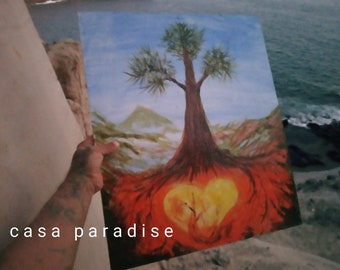 POSTCARD of Unique Artist Colorful Painting TREE of LIFE. Different sizes perfect for Birthday for Special Person, or print reproduction.