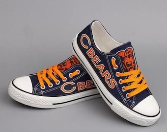 a8121de87 Chicago Bears Custom Shoes, Men's Women's Youth custom shoes, low tops,  Gifl NFL shoes, Football shoes