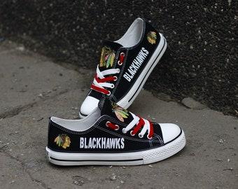 brand new 6cad5 18fcf Chicago Blackhawks NHL Custom Made Shoes, Men Women s Youth custom shoes
