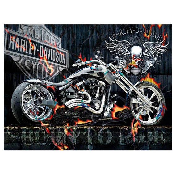5D DIY Diamond Painting Motorcycle fire Cross Stitch Full Square//Round Hand gift