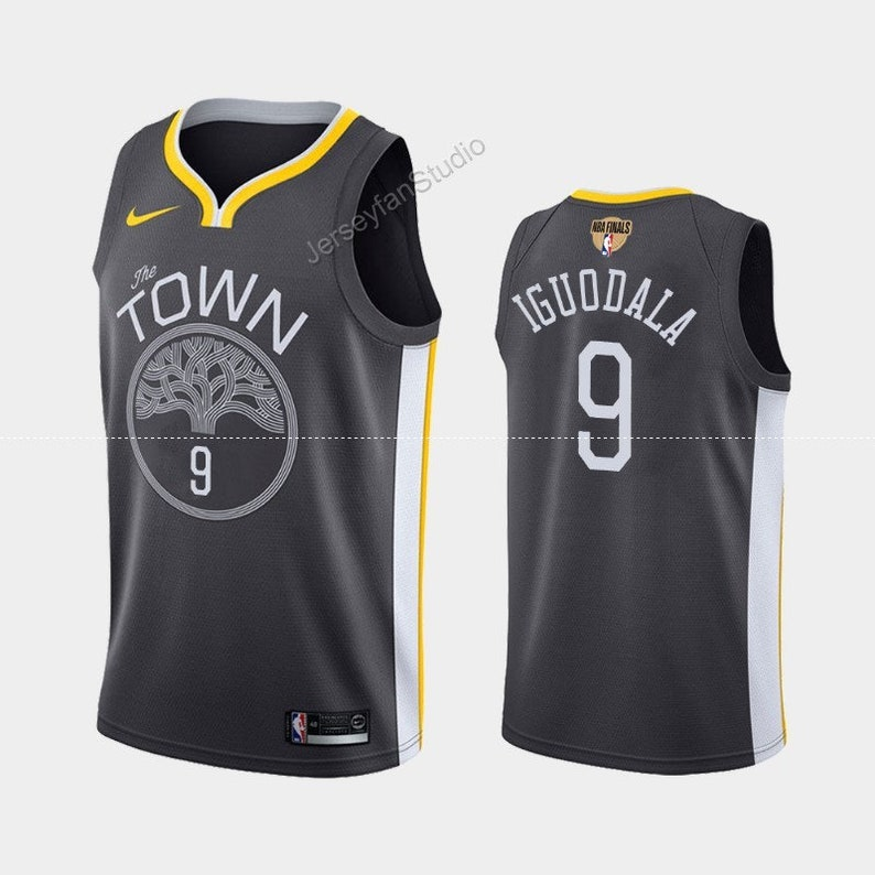 online store 1d036 c810c Golden State Warriors #9 Andre Iguodala Gray Jersey 2019 Finals City Jersey  Free Shipping S-2XL