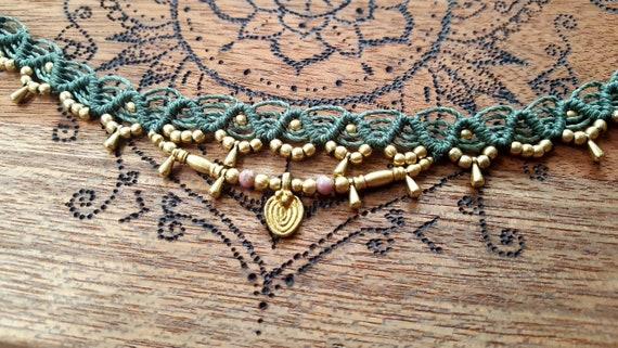 Choose your Rune! CUSTOM Handmade Hand-carved Macram\u00e8 Choker  Necklace