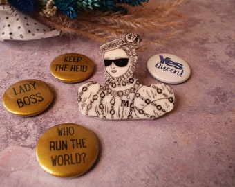 Pick A Patter Brooch + Badge Set - Marvelous Mary