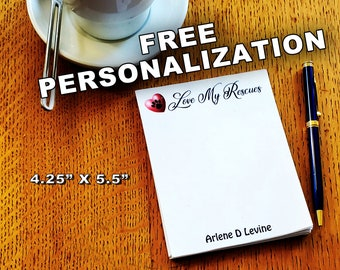 About 35 Cents per 30 pages pads, FREE personalization, to do memo gift, support no kill animal rescue shelters