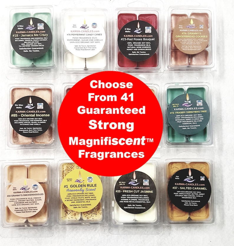 100% Pure soy melts 41 strong scent choices clam shell image 0