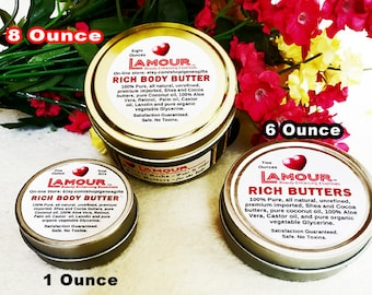 Triple whipped all natural Shea & Cocoa butter and oils. Loaded with Retinol and vitamins A C D E K, In 3 SIze tins, supports animal rescue