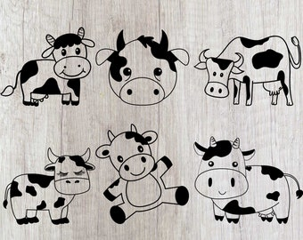 Cow Svg File Etsy