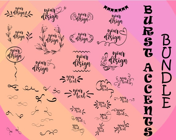 Hand Drawn Svg Hand Drawn Svg Handdrawn Svg Burst Accents Svg Etsy