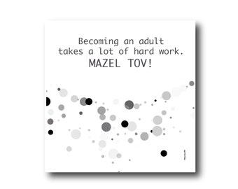 Digital Mazel Tov Card Mazal Tov greeting card best wishes