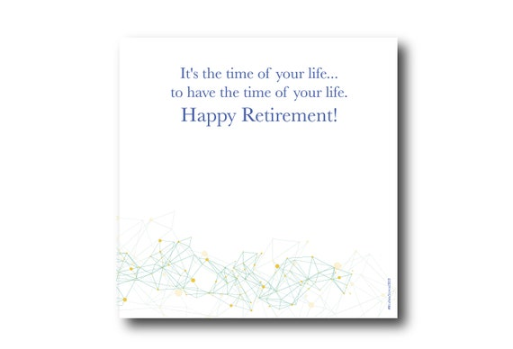 Digital Retirement card wishes, instant download, printable at home, ready to post, Pantone Colors, Pantone Colors