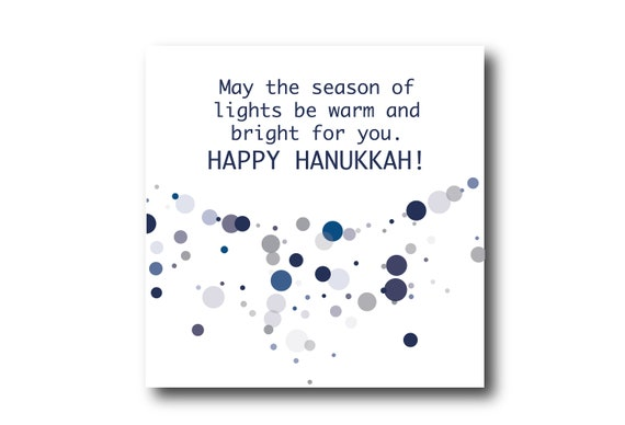 Digital Greeting Card for  HANUKKAH Wishes, Pantone Colors, Sustainable Design