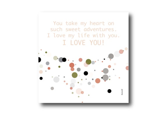 Digital Love card wishes, instant download, printable at home, ready to post, Pantone Colors, Pantone Colors