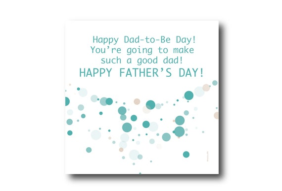 Digital Father's Day Card, Pantone colors, Father's day wishes, Casual Wishes, For a Father-to-Be, for a New Father