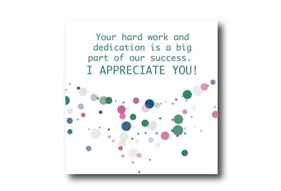 Digital Employee Appreciation card wishes, Pantone colors
