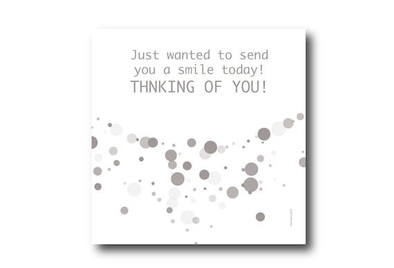 Digital Friendship card wishes, instant download, printable at home, ready to post, Pantone Colors