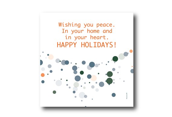 Digital Holiday Season card wishes, instant download, printable at home, ready to post, Pantone Colors, Pantone Colors