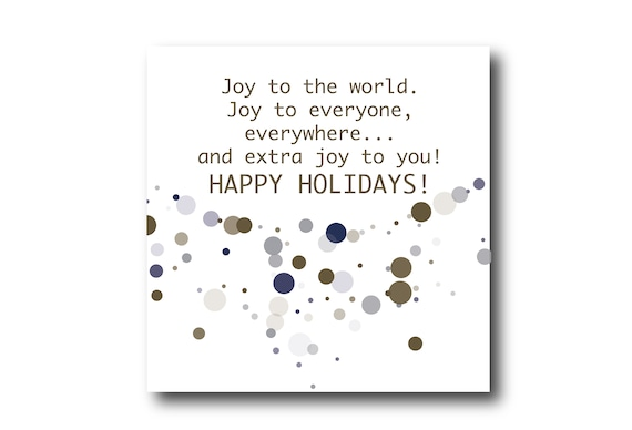 Digital Holiday Season card wishes, instant download, printable at home, ready to post, Pantone Colors