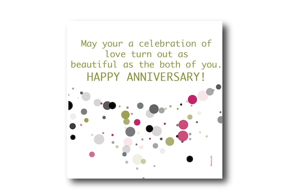 Digital Wedding Anniversary card wishes, instant download, printable at home, Pantone Colors