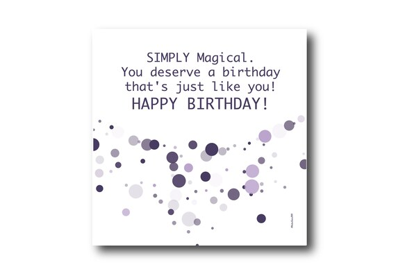 Digital Birthday card wishes, instant download, printable at home, Pantone Colors