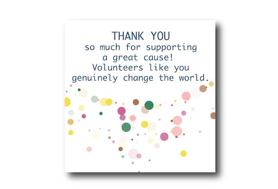 Digital Volunteer Appreciation Message Card, instant download, Pantone Colors