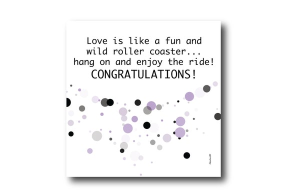 Digital Congratulations Engagement Wish Card