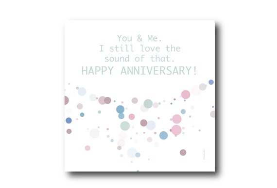 Digital Wedding Anniversary card wishes, instant download, printable at home, Pantone Colors, sustainable design