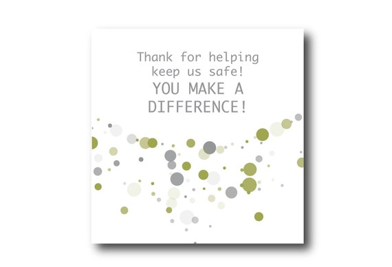 Digital Safety Employee Appreciation card wishes, instant download, printable at home, Pantone Colors
