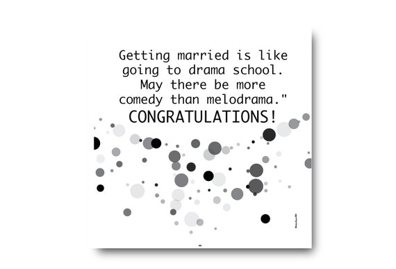 Digital Wedding Congratulation Greeting card wishes, instant download, printable at home, ready to post, Pantone Colors