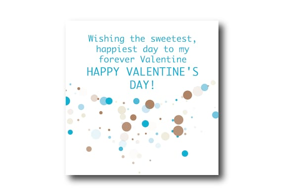 Digital VALENTINE'S DAY card wishes, instant download, printable at home, ready to post, Pantone Colors