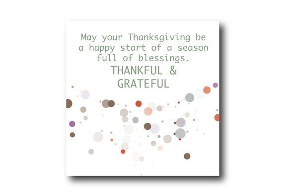 Digital Thanksgiving card wishes, instant download, printable at home, Pantone Colors, Sustainable Design