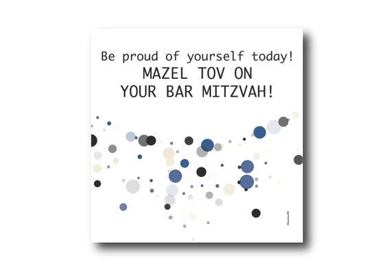 Digital Mazel Tov Card, Pantone Colors