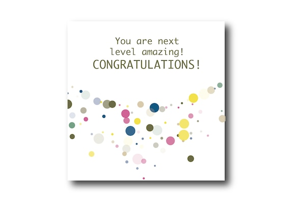 Congratulations Digital card wishes, instant download, printable at home, Pantone Colors