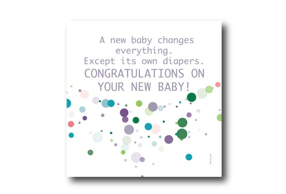 Digital Welcome Baby boy or girl card wishes, instant download, printable at home, Pantone Colors