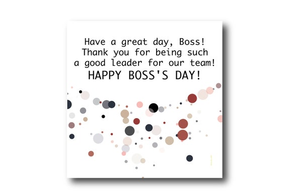 Digital Happy Boss Day Greeting Card, National Boss Day Wishes