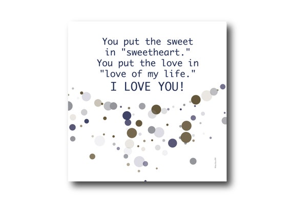 Digital I love you Greeting card wishes, instant download, printable at home, ready to post, Pantone Colors