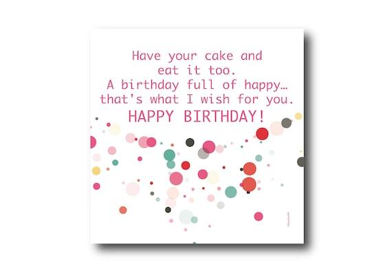 Digital Birthday Wishes greeting card, Pantone Colors