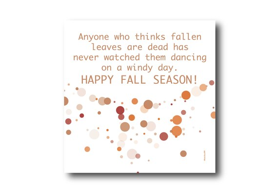 Digital Fall Autumn  card wishes, instant download, printable at home, Pantone Colors, Sustainable Design