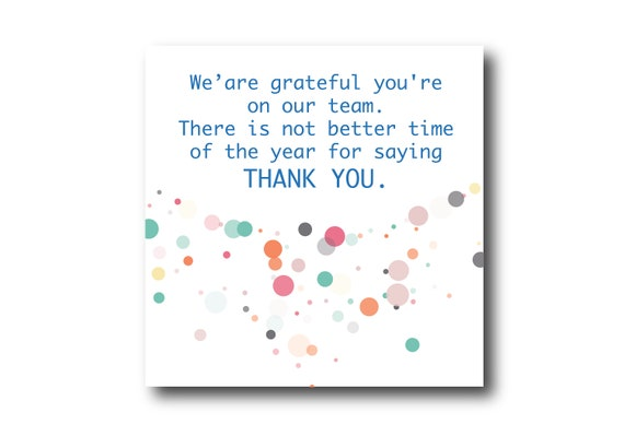 Digital Employee Appreciation card wishes, instant download, printable at home, Pantone Colors