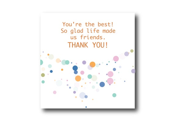 Digital Thank You Greeting card wishes, instant download, printable at home, ready to post, Pantone Colors
