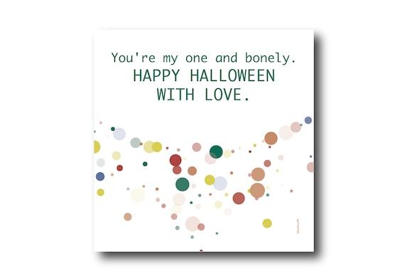 Digital Halloween Card, Happy Halloween, Halloween love wishes,  Funny Halloween Card,  Trick or Treat