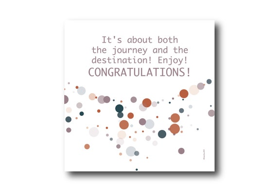 Digital Congratulations Greeting Card