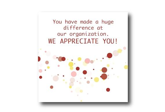 Digital Employee Appreciation card wishes, Pantone colors, Ready for social media