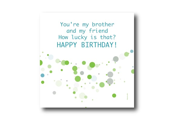 Digital Brother Birthday Wishes greeting card, Pantone Colors