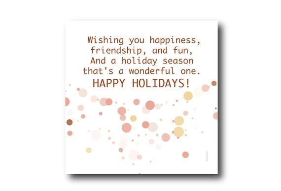 Holiday Season Greeting Card Wishes, Pantone Colors